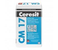 CERESIT CM-17 Высокоэластичный клей для плитки, мешок 25 кг