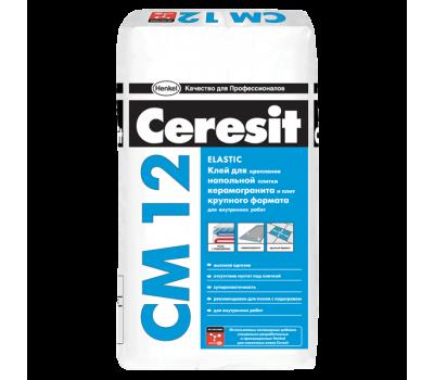 CERESIT CM-12 Еластична клеюча суміш для плитки і керамограніта, мішок 25 кг