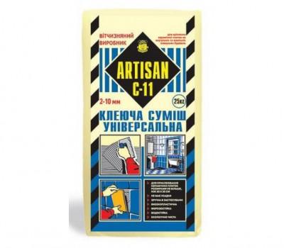АРТІСАН С-11/25кг  Клей для плитки Універсальний, для внутрішніх та зовнішніх робіт,