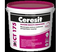 CERESIT CT 175/2 БАЗА Штукатурка декоративная силикон-силикатная короед (зерно 2мм), 25кг