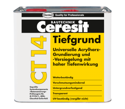 CERESIT CT-14 Грунт глибокопроникающий на растворителях, 5л