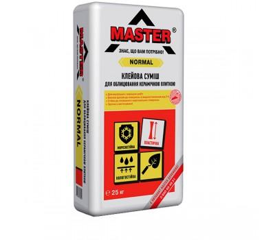 MASTER NORMAL Клей для плитки (для внутрішніх та зовнішніх робіт), 25кг