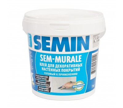 SEMIN SEM-MURALE ТМ Клей готовий для склошпалер та тканин , 10кг