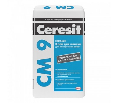 CERESIT CM-9 Клей для керамічної плитки Standard, мішок 25 кг