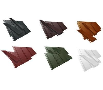 Панель, частично перфорированная 1,22 кв.м (4х0,31) коричневый, красный, графит, зеленый, кирпичный
