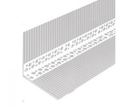 Профіль кутовий перфорований з СІТКОЮ 10х10 пластиковий, 3м