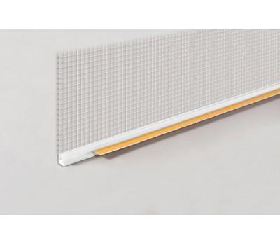 Профиль оконный примыкающий с сеткой 6мм 2,4м (м.п.)