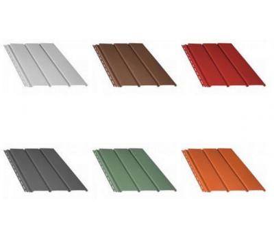 Панель сплошная 1,22 кв.м (4х0,31) коричневый, красный, графит, зеленый, кирпичный