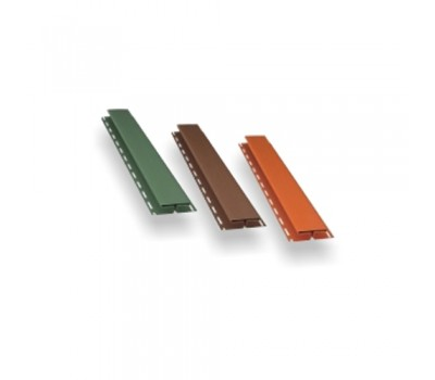 H-профиль 3м белый коричневый, красный, графит, зеленый, кирпичный