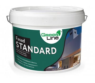 GREEN LINE Фасадна краска Fasad Standard 10л