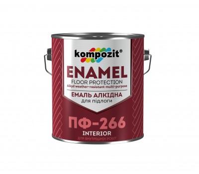 Эмаль для пола ПФ-266 Красно-коричневая (2,8 кг)
