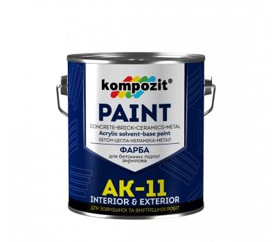 Краска для бетонных полов АК-11 Серая (1 кг)