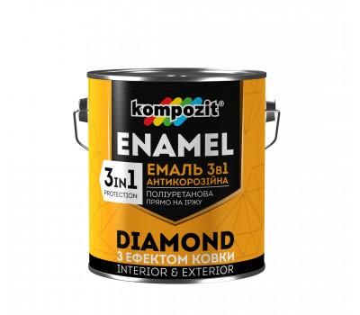 Эмаль антикоррозионная 3 в 1 DIAMOND Черная (0,65 л)