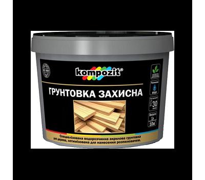 Грунтовка защитная для дерева Kompozit Белая (10 л - под заказ)