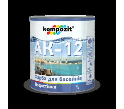 Краска для бассейнов АК-12 Голубая (2,8 кг)
