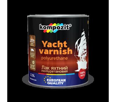 Лак яхтный полиуретановый Kompozit шелковисто-матовый (0,7 л)