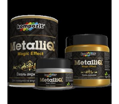 """Эмаль акриловая MetalliQ """"Черный жемчуг"""" (0,5 кг)"""