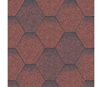 Битумная черепица Aquaizol Мозаика Красный микс