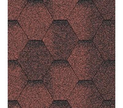 Битумная черепица Aquaizol Мозаика Красный ЭКО