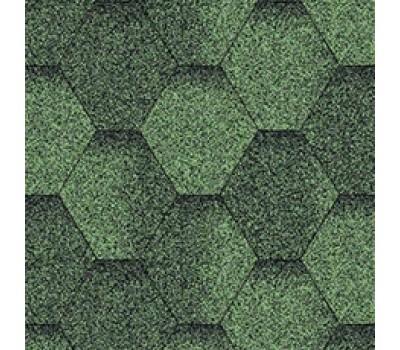 Битумная черепица Aquaizol Мозаика Зеленая ЭКО