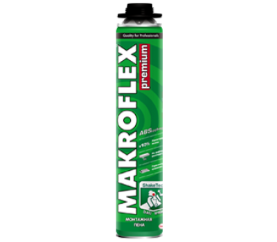 MAKROFLEX Пена монтажная PU PRO PREM (под пистолет), 770мл