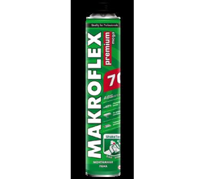 MAKROFLEX Пена монтажная PU PRO PREM.MEGA (под пистолет), 870мл
