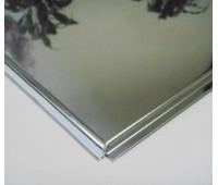 Потолочная плита Board 600х600 Супер хром (н/ж полированная)