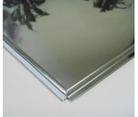 Потолочная плита Tegular 600х600 Супер хром (н/ж полированная)