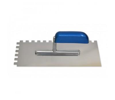 Гладилка 130х280мм зсталева зуб 8*8 (08-103) нержавіючим покриттям, дерев`яна ручка