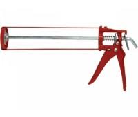 Пістолет для герметика скелетний  Favorit  червоний (12-006)