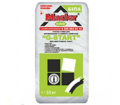 MASTER  G - START Стартова штукатурка для внутрішніх робіт на основі гіпсу (товщина нанесення 30 мм шар), 30 кг