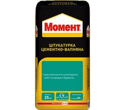 МОМЕНТ ШЦИ Штукатурка цементно-вапняна, 25кг