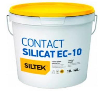 SILTEK EC-10/10л Грунт-краска силикатная Contact Silicat , база ЕА