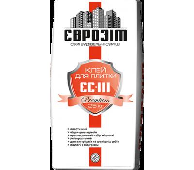 Клей для плитки Еврозит ЕС-111 Premium, 25 кг