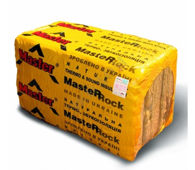 MASTER-ROK 80 Минераловатна плита  100 мм В с(5 шт), (1000ммХ600мм), 3м.кв.